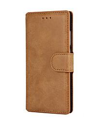 alta classe pu case carteira de couro com suporte para Huawei p8 Lite