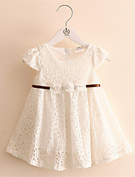 Girl Dress Girls Bow Dresses Summer 2016 Baby Clothes Princess Children's White Lace Dresses Kids Clothes