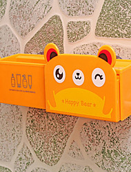Animal plastic suction box hanging wall bathroom racks
