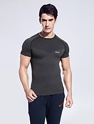Men Sports Summer Tshirt Fitness Running Yoga Top Clothing Quick Dry Gym Sportswear