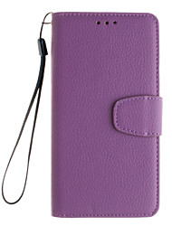 For Samsung Galaxy A5(2016)  Card Holder with Stand Flip Magnetic Full Body Solid Color PU Leather A5100