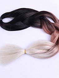 1 стрейч коричневый ящик косички jumbo наращивание волос 24inch kanekalon 80-100g / pc gram hair braids