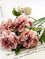 филиал шелковые пионы искусственные цветы 1шт / комплект