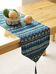 Geometric Pattern Table Runner Fashion Hotsale High-grade Cotton Linen Table Top Deco