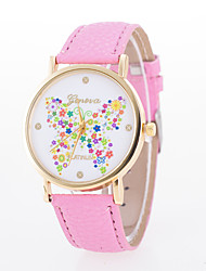 Women's European Style Fashion Printing Colorful Butterfly Wrist Watch Cool Watches Unique Watches