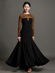 Robes(Noire,Tulle / Viscose,Danse moderne)Danse moderne- pourFemme Au drapée Spectacle Danse de Salon Taille moyenne