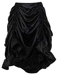 Shaperdiva Women's Gothic Steampunk Costume Vintage Multi Layered Chiffon Skirt