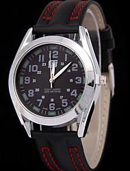 Men's Double Scale Belt Quartz Watch