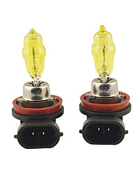 Carking™ HOD H8 100W 2800K Ultra Bright Car Yellow Light Bulbs (DC 12V/Pair)