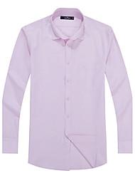 Sieben Brand® Herren Hemdkragen Lange Ärmel Shirt & Bluse Rosa-704A3B4810