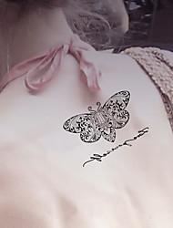 5 Tatuagens Adesivas Séries Animal / Série dos desenhos animados não tóxica / Estampado / Tamanho Grande / Á Prova d'águaFeminino /