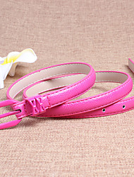 Women Leather Skinny Belt,Vintage / Cute / Party / Casual Alloy