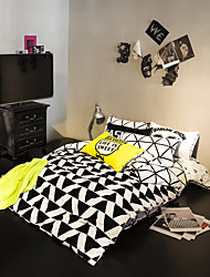100% Cotton duvet cover Sets black and white Bedding Set Queen/Double/Full Size