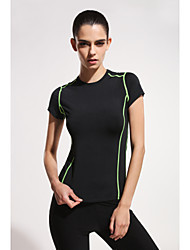 New Korean Version Of the Sports And Fitness Wicking T-shirt Slim Stretch Yoga Clothes Tops