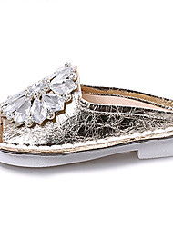 Women's Shoes PU Low Heel Slippers Sandals / Slippers Outdoor / Dress / Casual Silver / Gold