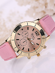 Women's Leather Band White Case Analog Quartz Wrist Watch Cool Watches Unique Watches