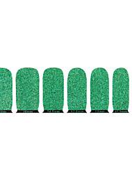 linda jóia de glitter nail meio ambiente verde