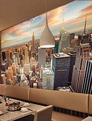 JAMMORY Large High-rise Landscape Mural Landscape / Still Life Wall Murals Warm Colors Canvas 3D Wallpaper