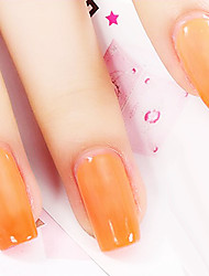 Ekbas Orange Color Gradient Nail Glue 16ML Nail Polish