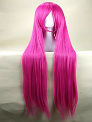 Top Quality Pink Cosplay Wig  Woman's Wigs Super Long Straight Animated Synthetic Hair Wigs  Party Wigs