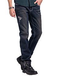 Lesmart Men's Jeans / Straight Pants Black / Blue / Red / Green - DX13193