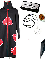 Inspired by Naruto Hidan Anime Cosplay Costumes Cosplay Suits / More Accessories Print Black Cloak / More Accessories