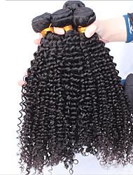Cabelo virgem 3pcs / lot brazilian cabelo virgem não transformados tecer cabelo virgem encaracolado Kinky tece