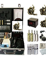Basekey Tattoo Kit 3 Machines JHK0163 Machine With Power Supply Grips Cleaning Brush Ink Needles