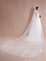 Wedding Veil Two-tier Blusher Veils / Cathedral Veils Cut Edge