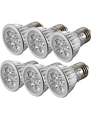 YouOKLight® 6PCS E27 4W Dimmable 4-LED Spotlight Warm White Light/Cold White 3000/6000K 400lm (AC 85~265V)