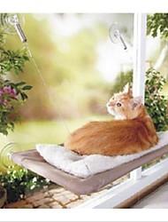 Gato Camas Animais de Estimação Capachos e Alcochoadas Dobrável Transparente Tecido