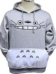 Inspirado por Meu Vizinho Totoro Gato Anime Fantasias de Cosplay Hoodies cosplay Estampado Cinzento Manga Comprida Top / Mais Acessórios