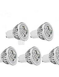 5W GU10 Faretti LED / Riflettori MR16 1 350-400 lm Bianco caldo / Luce fredda AC 85-265 V 5 pezzi