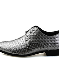 Men's Oxfords Casual/Party & Evening/Wedding Fashion Leather Oxfords Shoes Black/White/Silver 38-43