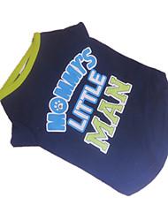 Cães Camiseta Azul Roupas para Cães Verão Carta e Número Da Moda