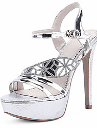 Women's Shoes Patent Leather/Stiletto Heels/Platform Sandals Wedding shoes/Party & Evening/Dress Silver/Gold