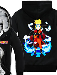 Inspired by Naruto Naruto Uzumaki Anime Cosplay Costumes Cosplay Hoodies Print Long Sleeve Top For Male