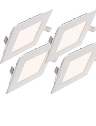 4pcs 3W Square NON-dimmable LED Panel light 2800-6500K SMD 2835 Epistar chip AC85-265V
