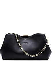 NAWO Women Cowhide Shoulder Bag Black-N154111