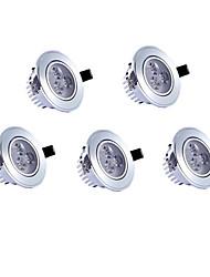 5pcs 3w 3leds 350lm теплый / холодный белый цвет привели receseed огни потолочные светильники (85-265)
