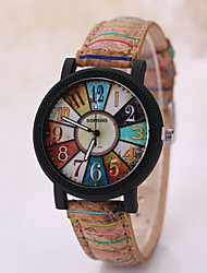 Men's Triangle Case Leather Wood Band Analog Quartz Wrist Watch Cool Watch Unique Watch