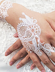 Lace Temporary PVC Henna Tattoo Sticker Printing Airbrush Tattoo Stencils