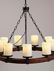 MAX 40W Plafond Lichten & hangers ,  Retro Schilderen Kenmerk for Ministijl Hout/bamboeWoonkamer / Slaapkamer / Eetkamer /