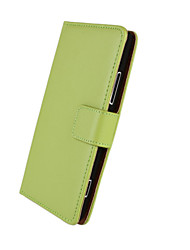 For Nokia Case Card Holder / Wallet / with Stand Case Full Body Case Solid Color Hard PU Leather Nokia Nokia Lumia 925
