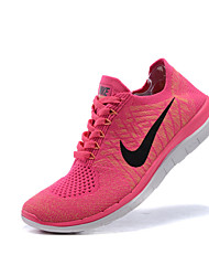 Nike Free 4.0 Flyknit Women's Running Shoes Athletic Shoes Fashion Sneakers Gray / Royal Blue / Purple/Pink