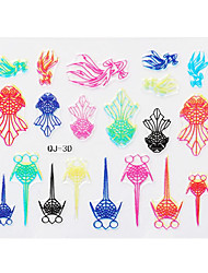 Multicolor Goldfish 3D Nail Stickers