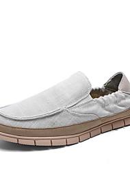 Zapatos de Hombre Mocasines Boda / Oficina y Trabajo / Vestido / Casual / Deporte / Fiesta y Noche Lino Azul / Gris
