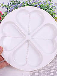 Microwave Cake Mould Microwave Egg Tray  Steaming Plate Fourfold Heart-shaped Steam Tray
