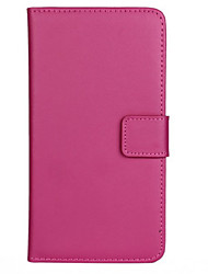 Slim Solid Color Genuine Leather Full Body Cover with Card and Stand Case for LG G5