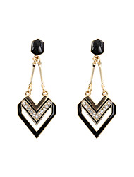 Drop Earrings Resin Enamel Alloy Golden Jewelry Wedding Party Daily Casual Sports 1 pair